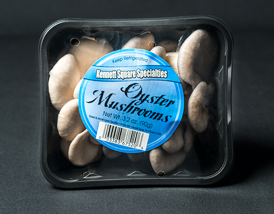 Packages of Oyster Mushrooms