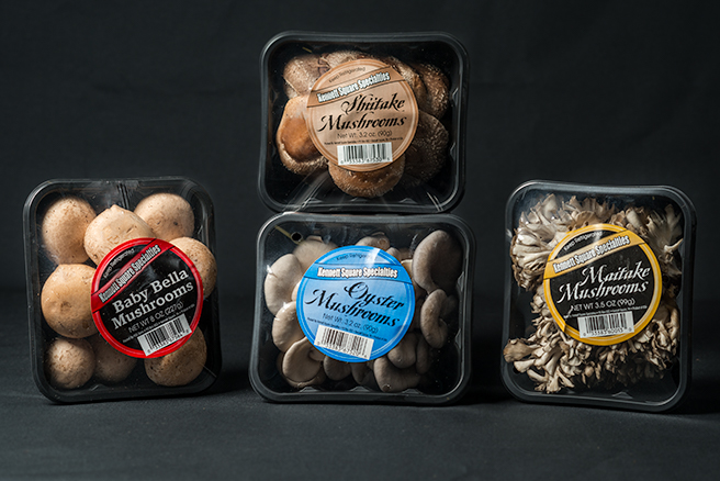 Packages of Mushrooms